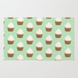 Vanilla Cupcakes with Frosting Pattern Rug