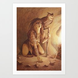 Owl - A Compendium of Witches Art Print