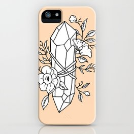 Crystal Wrapped In Florals iPhone Case