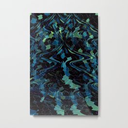 Deep Blue Mosaic Metal Print