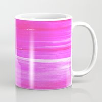hot pink Mugs featuring Hot PINK by HollyJonesEcu