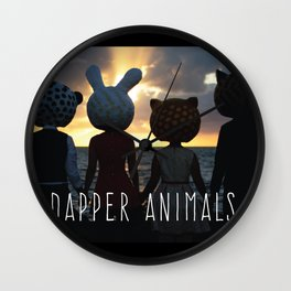 Dapper Animals Sunset Wall Clock
