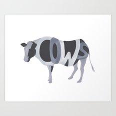 Cows Typography Art Print