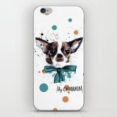 Chic Chihuahua dog iPhone & iPod Skin