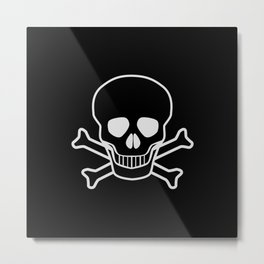 Jolly Rodger Metal Print