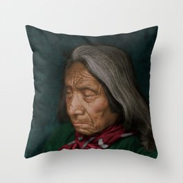 Red Cloud - Oglala American Indian Throw Pillow