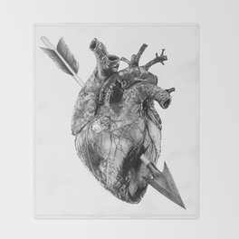 Wounded Heart Throw Blanket