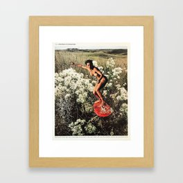 A Rich Mosaic in Growing Things. Framed Art Print