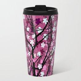Pink floral tree print Travel Mug