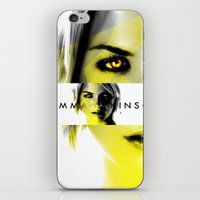 gemma correll iPhone & iPod Skins featuring GEMMA ATKINSON by OmaPRINTS