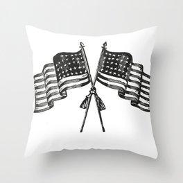 American flag Throw Pillow
