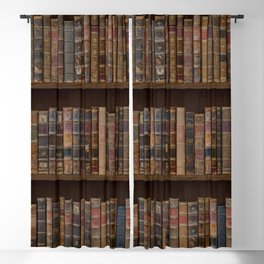 Old Victorian Library Beautiful Book Spines Bookcase Bookshelf Vintage Antique Books Blackout Curtain