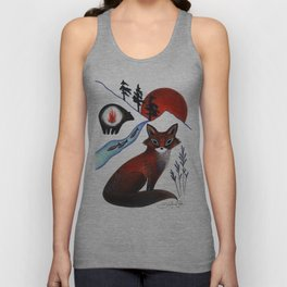 Fox on the Mountain Unisex Tank Top