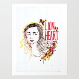 Queen Argent Art Print