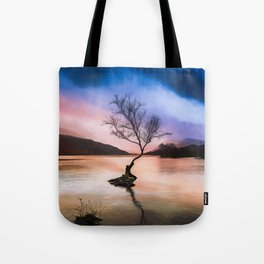 Llanberis Lake Tree Tote Bag