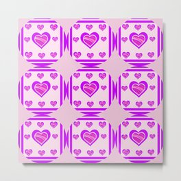 Hearts and the Circle of Love Metal Print