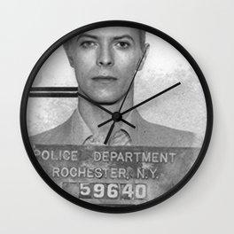 Bowie Mugshot Wall Clock