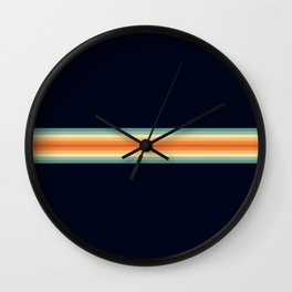 Classic Retro 70s Vintage Style Stripes - Enesa Wall Clock