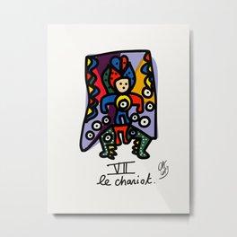 Le Chariot Tarot Card Street Art Illustration Metal Print