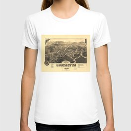 Vintage Pictorial Map of Lancaster NH (1883) T-shirt