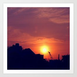 Sunset at Clarke Quay Art Print