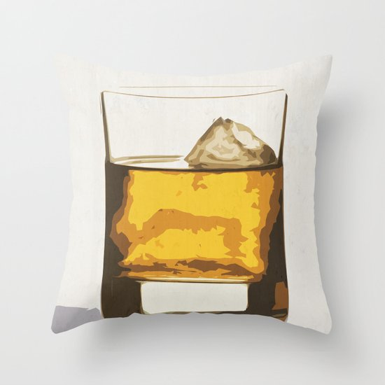Old Scotch Whiskey Throw Pillow