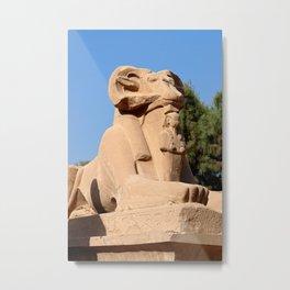 Ram-headed Sphinx in Karnak Temple Metal Print