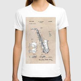 patent art Gillespie Saxophone 1945 T-shirt