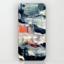 Eye of the Storm [2] - abstract mixed media piece in blues, white, and red iPhone Skin