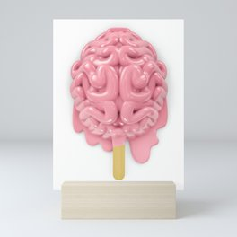 Popsicle brain melting Mini Art Print
