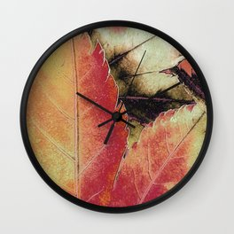 Autumn Maple Abstract Wall Clock