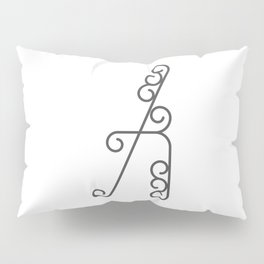 """Letter """"A"""" in beautiful design Fashion Modern Style Pillow Sham"""