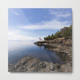 Ocean View San Juan Island #2- Minimalistic Fine Art Photo Print Metal Print