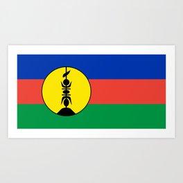 New Caledonia flag Art Print