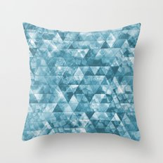 Chilled Ice Throw Pillow