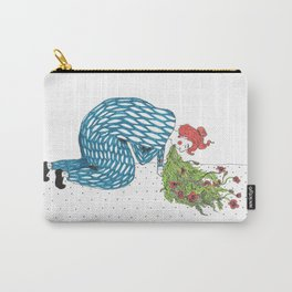 The Fear of Vomiting [flowers] Carry-All Pouch