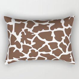 Animal Print (Giraffe Pattern) - Brown White Rectangular Pillow