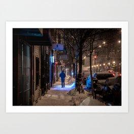 A Chilly Walk Art Print
