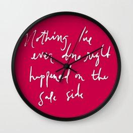 Safe Side Wall Clock