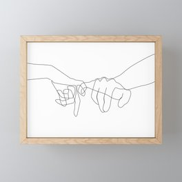 Pinky Swear Framed Mini Art Print