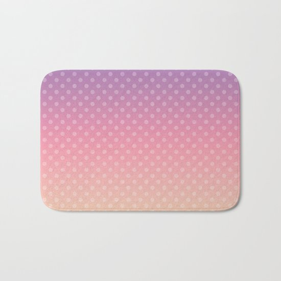 Lilac pink yellow Ombre . Bath Mat