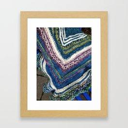 Waves of Knitting Shawl Framed Art Print