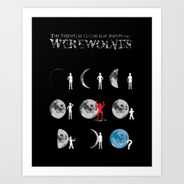 The Essential Guide To Avoiding Werewolves Art Print