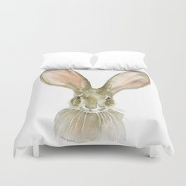 Jack Rabbit Watercolor Duvet Cover