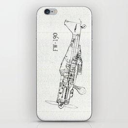 FW - 190 ( B & W) iPhone Skin