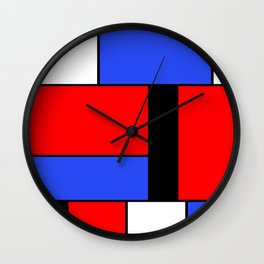 Mondrian #51 Wall Clock