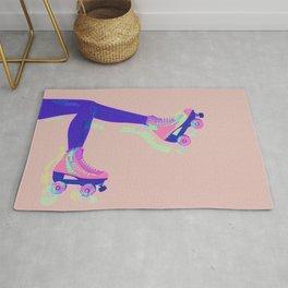 Roller Girl Skates Up - Pink Rug