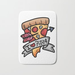 Pizza Italy kitchen baking salami cheese gift Bath Mat