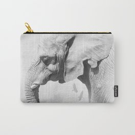 Elephant | Animal Photography | B&W | Nature | Fog | Wildlife | Abstract | Landscape Carry-All Pouch