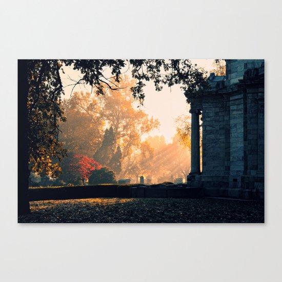 Fall morning at Green Lawn Canvas Print